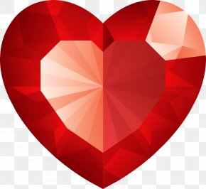 Ruby - Diamond Heart Stock Photography Clip Art PNG