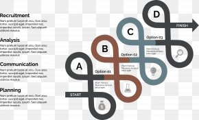 Helical Curve Arrows - Chart Infographic Template PNG