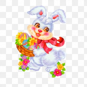Hand-painted Cartoon Rabbit - Easter Bunny Christmas Card Easter Egg Wish PNG