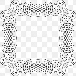 Line Frame - Line Art Drawing Picture Frames Clip Art PNG