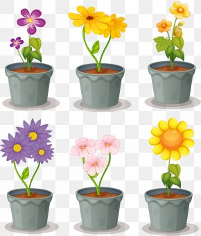 Balcony Planted Potted Plants - Flowerpot Euclidean Vector PNG