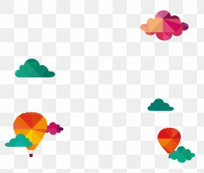 Cool Clouds, Hot Air Balloon Vector - Travel Euclidean Vector Illustration PNG