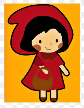 Little Red Riding Hood Clipart - Little Red Riding Hood Clip Art Illustration Big Bad Wolf Drawing PNG