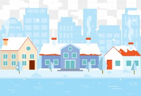 Snow House Vector - Snowflake Winter PNG