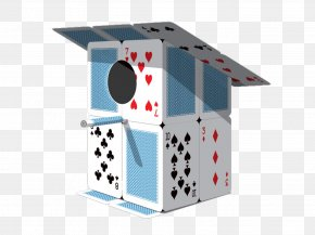 House Of Cards Creative Three-dimensional Bird House - Playing Card Wallpaper PNG