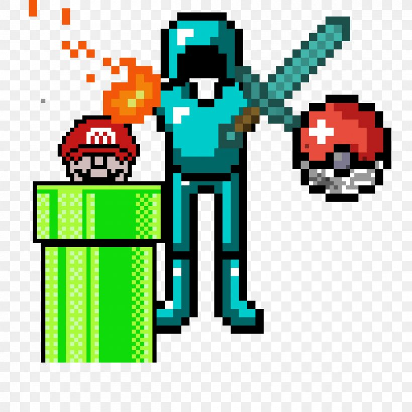 Gif Herobrine Minions Pixel Art Minecraft Png 1200x1200px