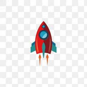 Red Spaceship - Rocket Spacecraft Outer Space PNG