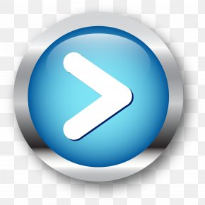Hand Painted Blue Button - Push-button Download Icon PNG
