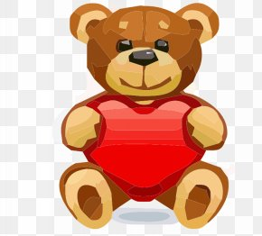 Love Bear - Valentines Day February 14 Heart Drawing PNG