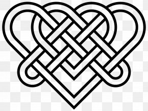 Celtic Heart Cliparts - Celtic Knot Heart Triquetra Clip Art PNG