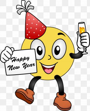 Microsoft Smiley Cliparts - Smiley Emoticon New Years Day Clip Art PNG