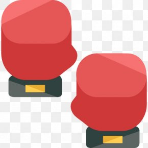 A Red Boxing Gloves - Boxing Glove Icon PNG