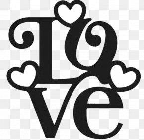 Valentine's Day - Valentine's Day Love Stencil Word Pattern PNG
