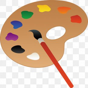 Paintbrushes Cliparts - Palette Paint Artist Clip Art PNG