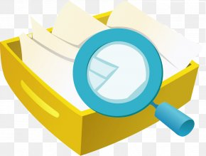 Cartoon Magnifying Glass Box - Magnifying Glass Icon PNG