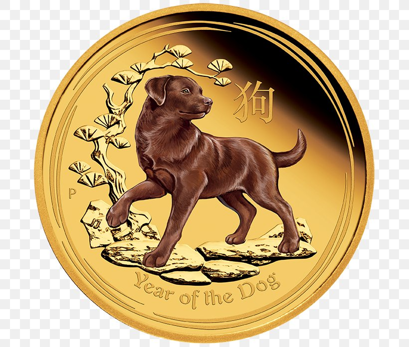 Australia 2018 The Year Of Dog Chinese Lunar Zodiac 1 oz Silver Proof Coin Perth