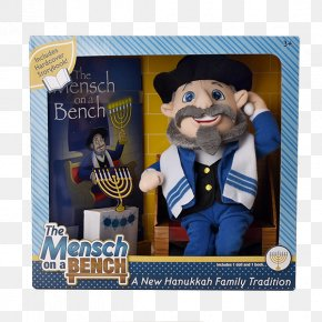 Funny Shark - The Mensch On A Bench Hanukkah Judaism Book Doll PNG