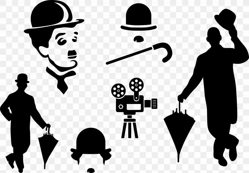CorelDRAW Comedy Computer File, PNG, 5179x3596px, Silhouette, Black And White, Brand, Business, Chaplin Download Free