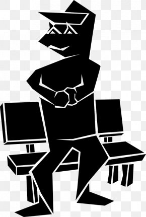 Silhouette - Black And White Male Clip Art PNG