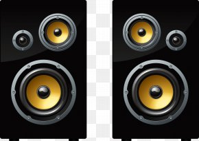Painted Black Bass Roar Sound Quality Vector - Loudspeaker Euclidean Vector Sound Illustration PNG