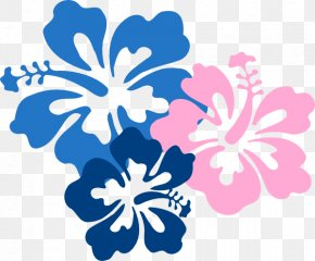 Blue Hibiscus Cliparts - Cuisine Of Hawaii Hawaiian Flower Clip Art PNG