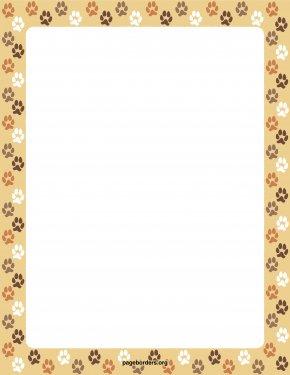 Dog Borders - Dog Cat Paper Paw Clip Art PNG