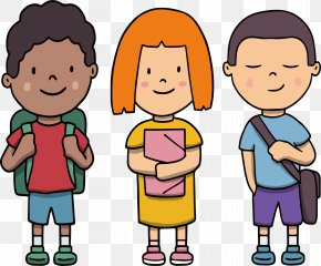 A Little Buddy Who Goes To School Together - Student School Clip Art PNG
