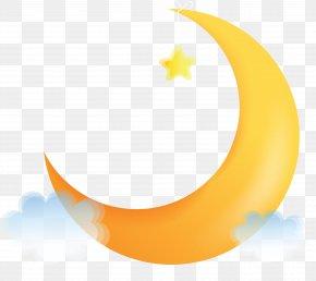Moon - Crescent Moon Illustration PNG