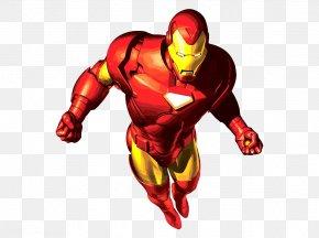 The Flying Iron Man - Iron Man Cartoon Superhero Clip Art PNG