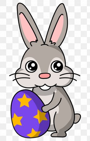 Mean Rabbit Cliparts - Easter Bunny Easter Egg Rabbit Clip Art PNG