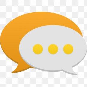 Communication - Yellow Orange Smile PNG