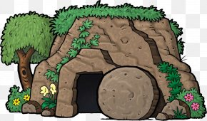 Empty Tomb Cartoon - Bible Easter God Resurrection Of Jesus PNG