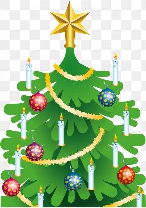 Christmas Tree - Christmas Tree Candle Clip Art PNG