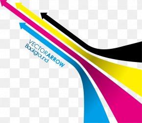 Vector Colored Arrows Material - CMYK Color Model Arrow Clip Art PNG