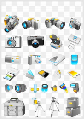 Various Camera Technology Products Vector - Photographic Film Camera Adobe Illustrator Icon PNG