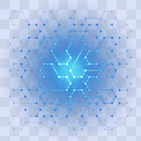 Digital Technology Digital Hexagon Light Effect - Poster Designer Wallpaper PNG