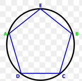 Gold Circle In The Middle - Circle Angle Point Pentagon Regular Polygon PNG