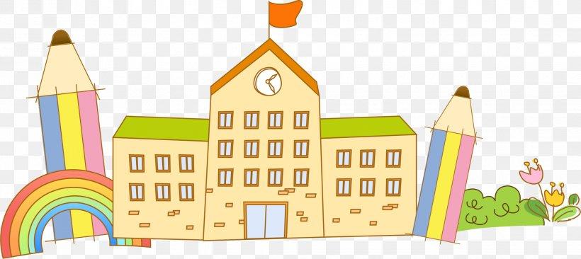 School Cartoon, PNG, 2242x1001px, School, Area, Art, Cartoon, Child Download Free