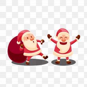 Vector Santa Claus - Santa Claus Gift Christmas PNG
