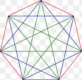 Heptagram Heptagon Regular Polygon Star Polygon PNG