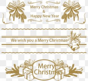 Dark Golden Christmas Banners - Christmas New Year Computer File PNG