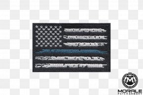 United States - United States Thin Blue Line The Thin Red Line Flag Patch Police Officer PNG
