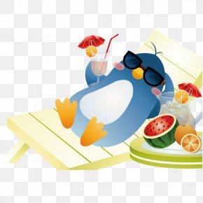Sun Penguins - Cartoon Summer Download PNG