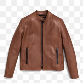 A Simple Brown Leather Jacket - Leather Jacket Leather Jacket Tapestry Coat PNG