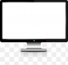Black Tech Computer - Computer Monitor Output Device Angle Multimedia PNG