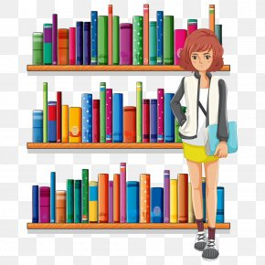 Cartoon Books - Library Librarian Clip Art PNG