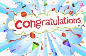 Congratulations - Download Desktop Wallpaper Clip Art PNG