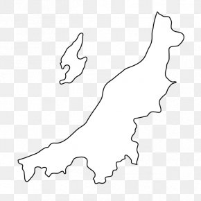 Map - Niigata Prefectures Of Japan Map Clip Art PNG