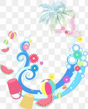 Vector Summer Vacation Element Lace Pattern - Summer Clip Art PNG