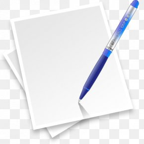 Decorative Paper And Pencil Picture Material - Paper Pen Application Software Icon PNG
